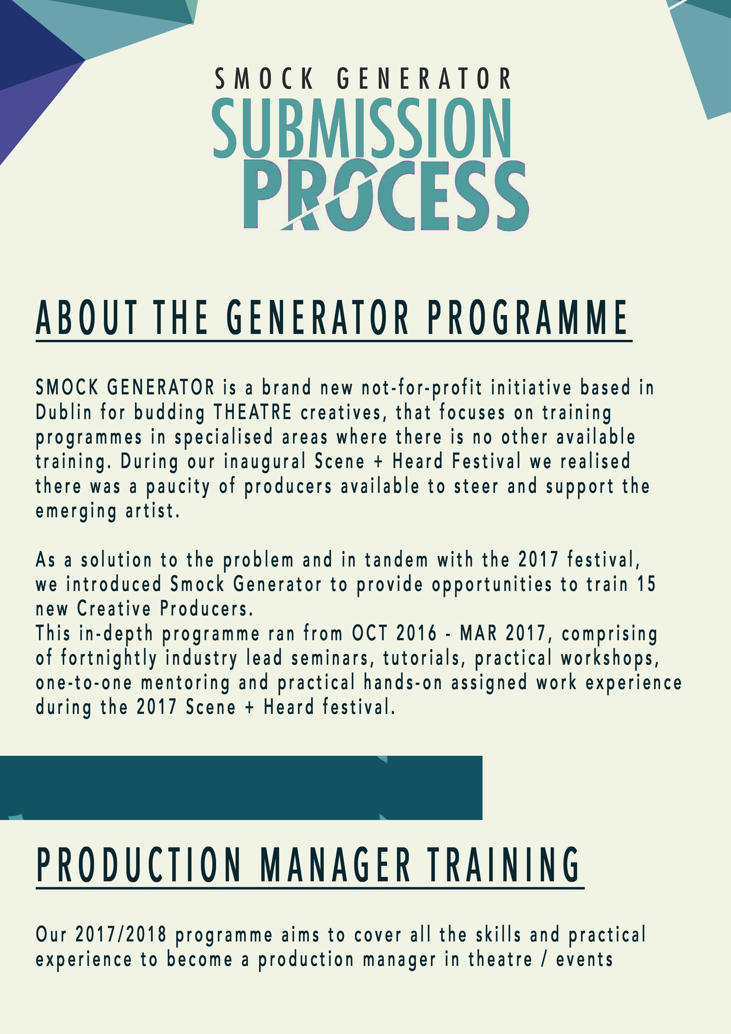 to apply for the generator production manager course click here